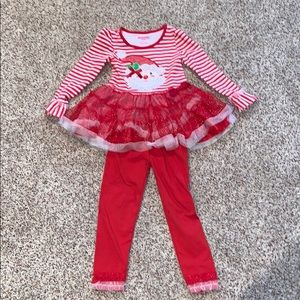 Nannette Christmas Outfit Girls Size 5